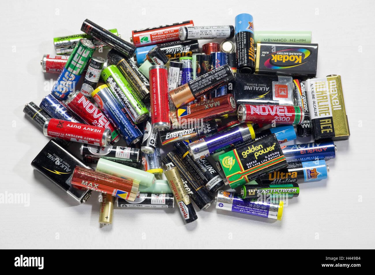Alto batteries, hazardous wastes, - Stock Image