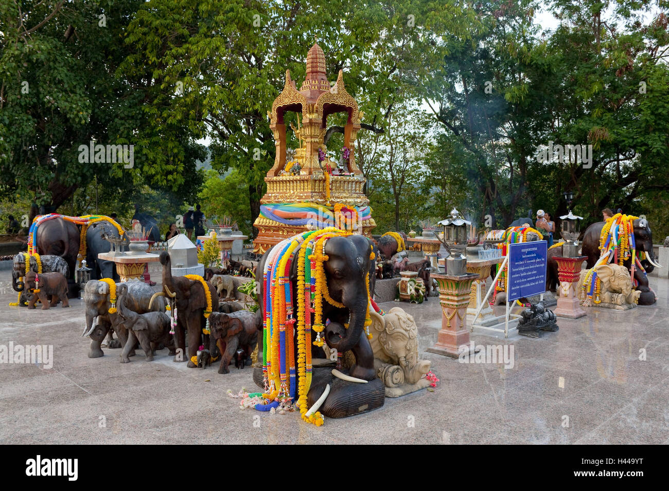Thailand, Phuket, Cape Laem Promthep, toiletries, elephant figurines, - Stock Image