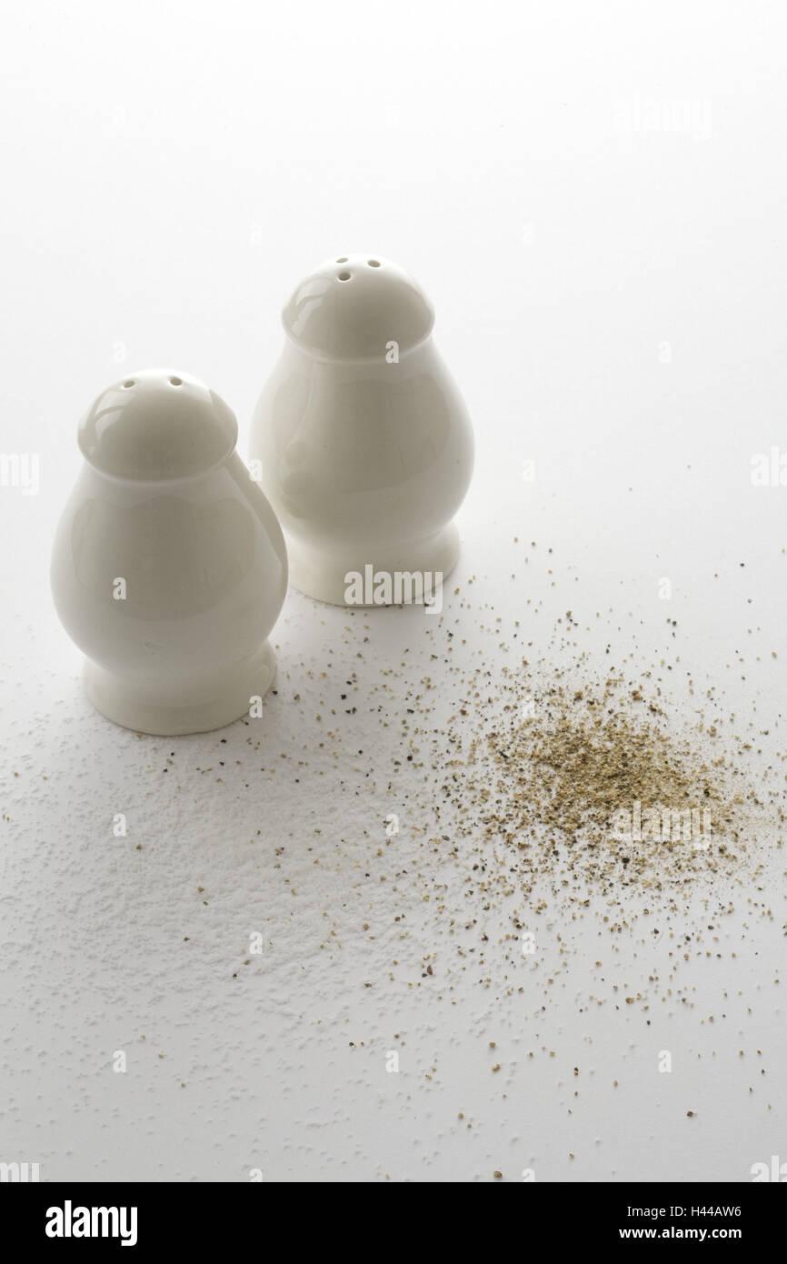 Salt-cellar, pepperpot, - Stock Image