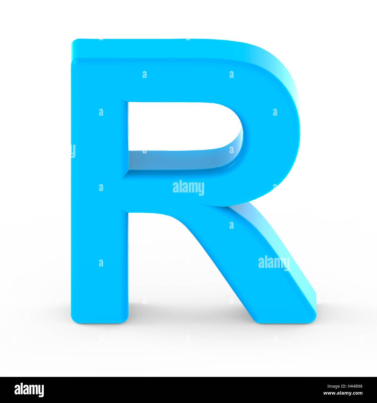 Light blue letter r 3d rendering graphic isolated white background light blue letter r 3d rendering graphic isolated white background thecheapjerseys Images