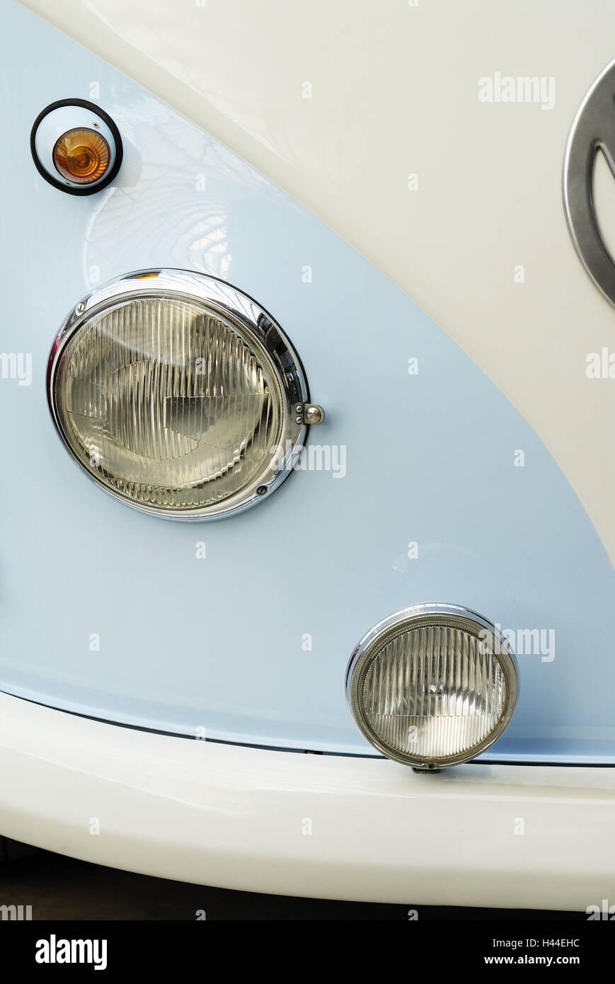 Vintage car, VW, transporter, bumper, headlight, indicator