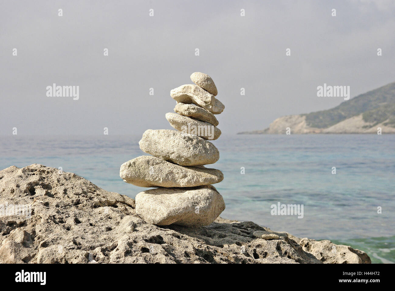 Bile coast, detail, stones, on each other, - Stock Image