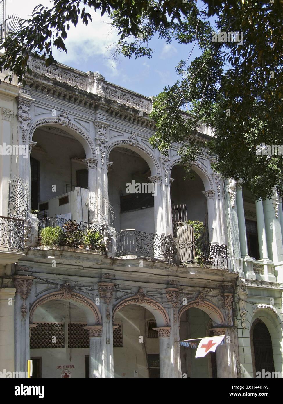Cuba Havana City Centre Houses Colonial Style Holiday Destination