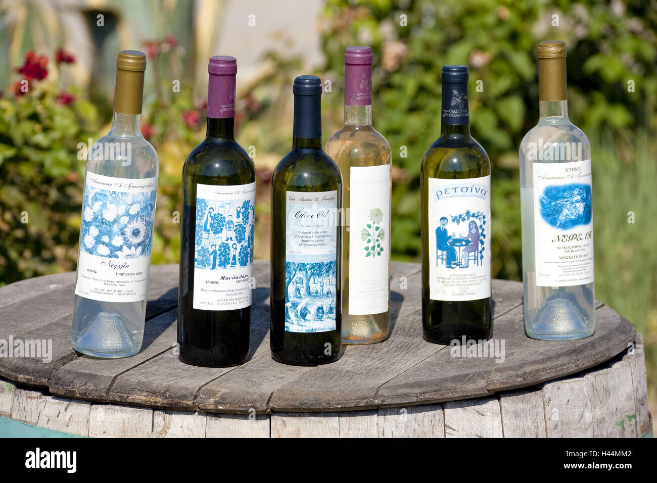 Europe, Southern, Europe, Greece, island Rhodes, rhodische wines and olive oils, - Stock Image