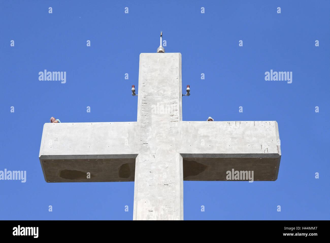 Europe, Southern, Europe, Greece, island Rhodes, Filerimos, Philerimos, passable concrete cross, detail, - Stock Image