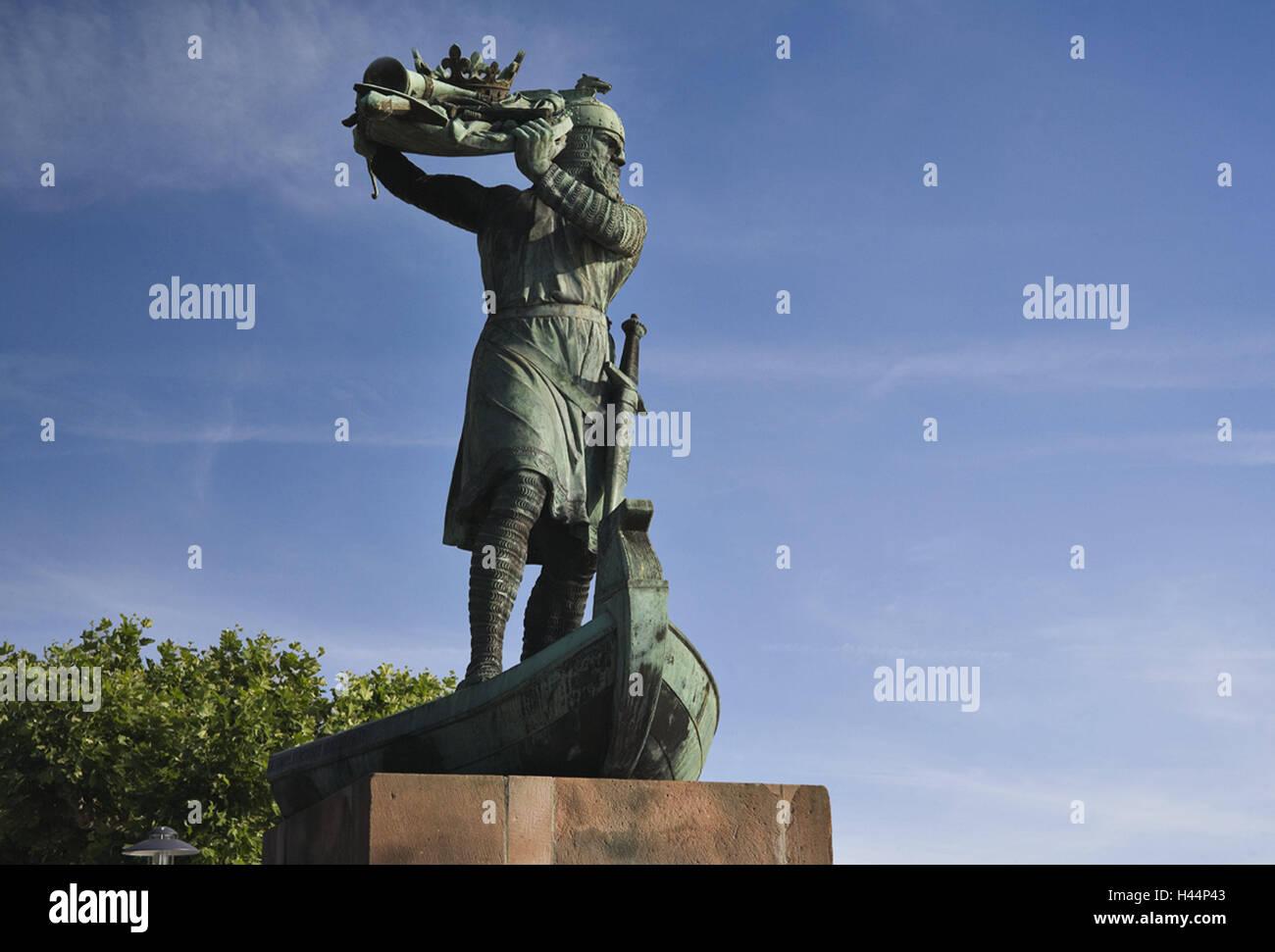Germany, Rhineland-Palatinate, Worms, freeze frame Hagen von Tronje ...
