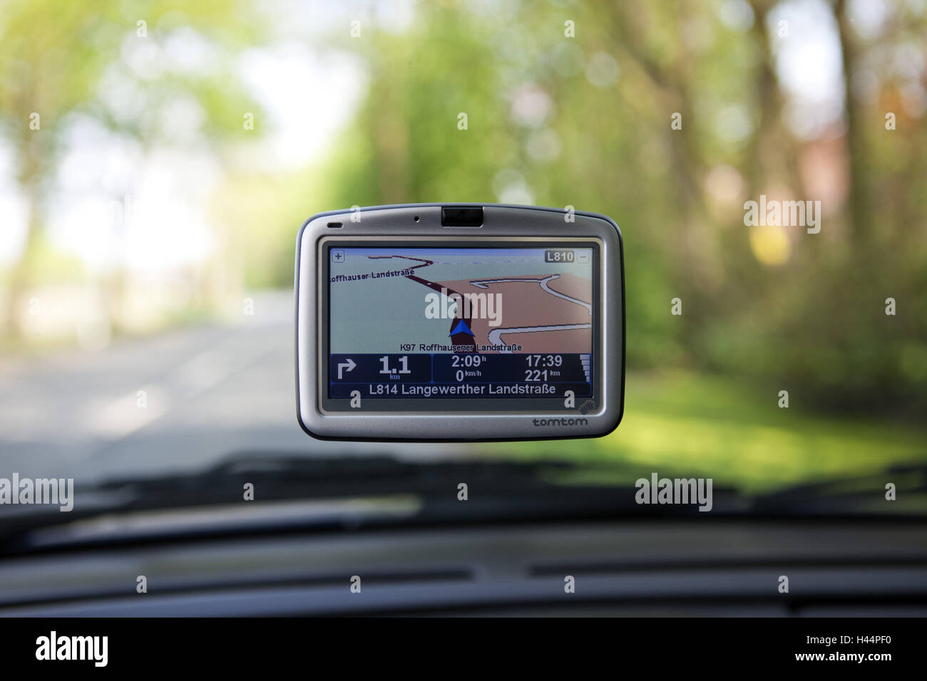 Navigation system in the car, Stock Photo