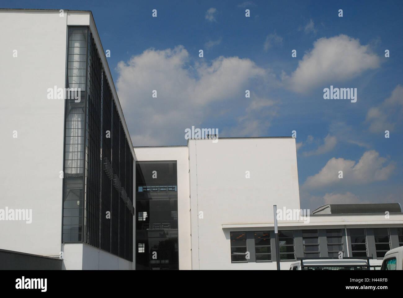 Germany, Saxony-Anhalt, Dessau-Rosslau, Bauhaus, Stock Photo