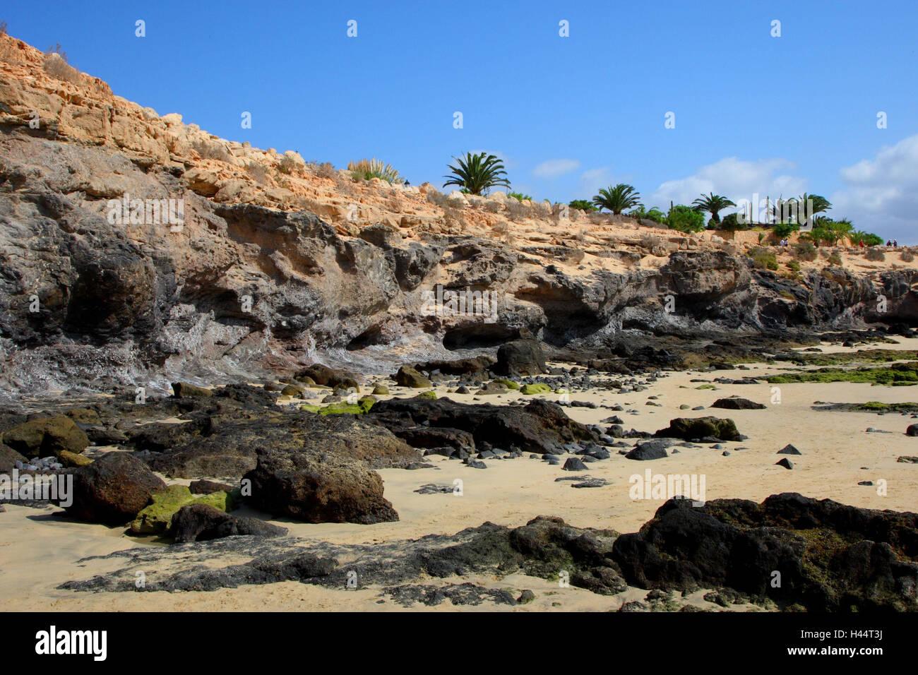 Bile coast on Fuerteventura to Costa Calma, - Stock Image