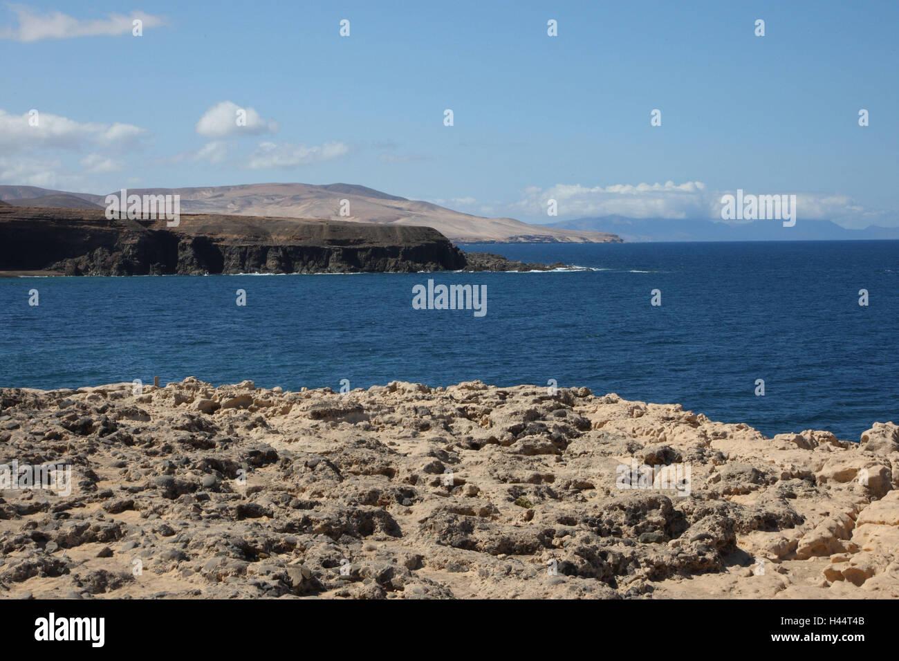 Bile coast with Puerto de la Pena on Fuerteventura, - Stock Image