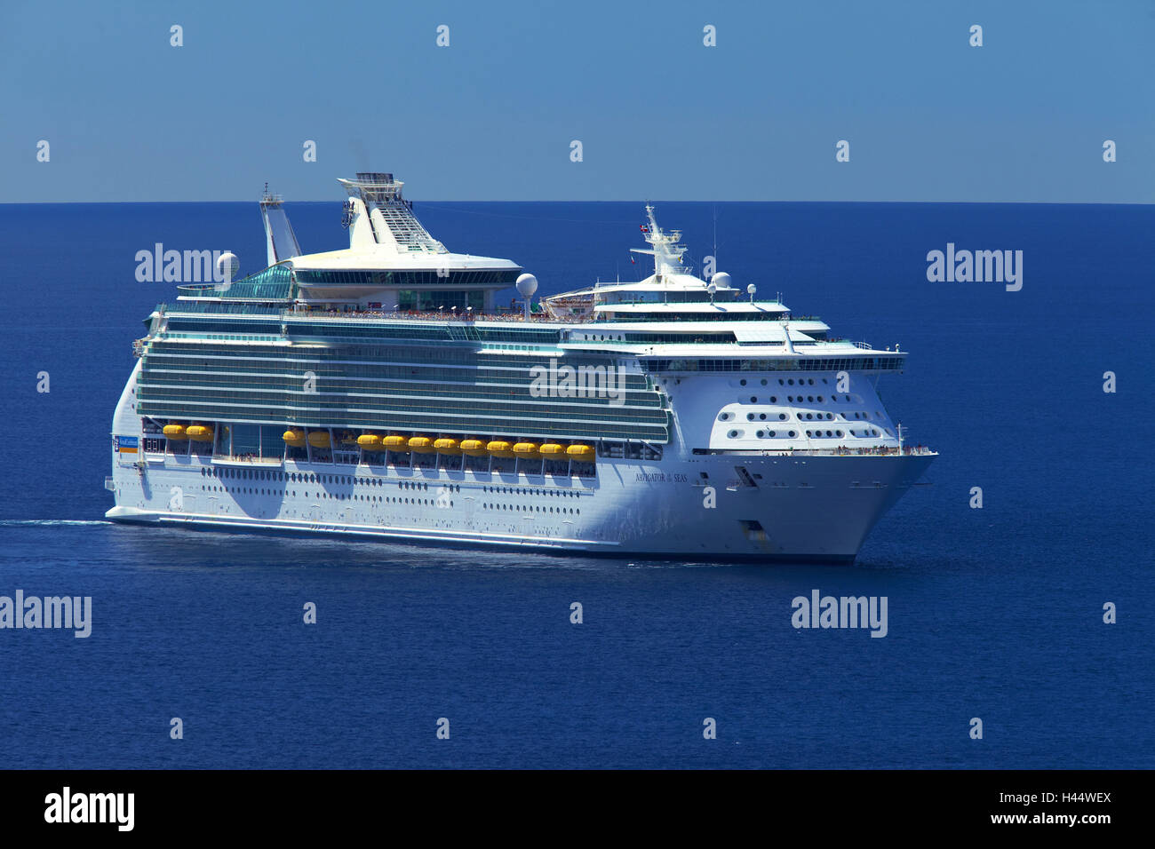 Europe, the South France, Cote d'Azur, Nice, cruise ship 'navigator the Seas', - Stock Image