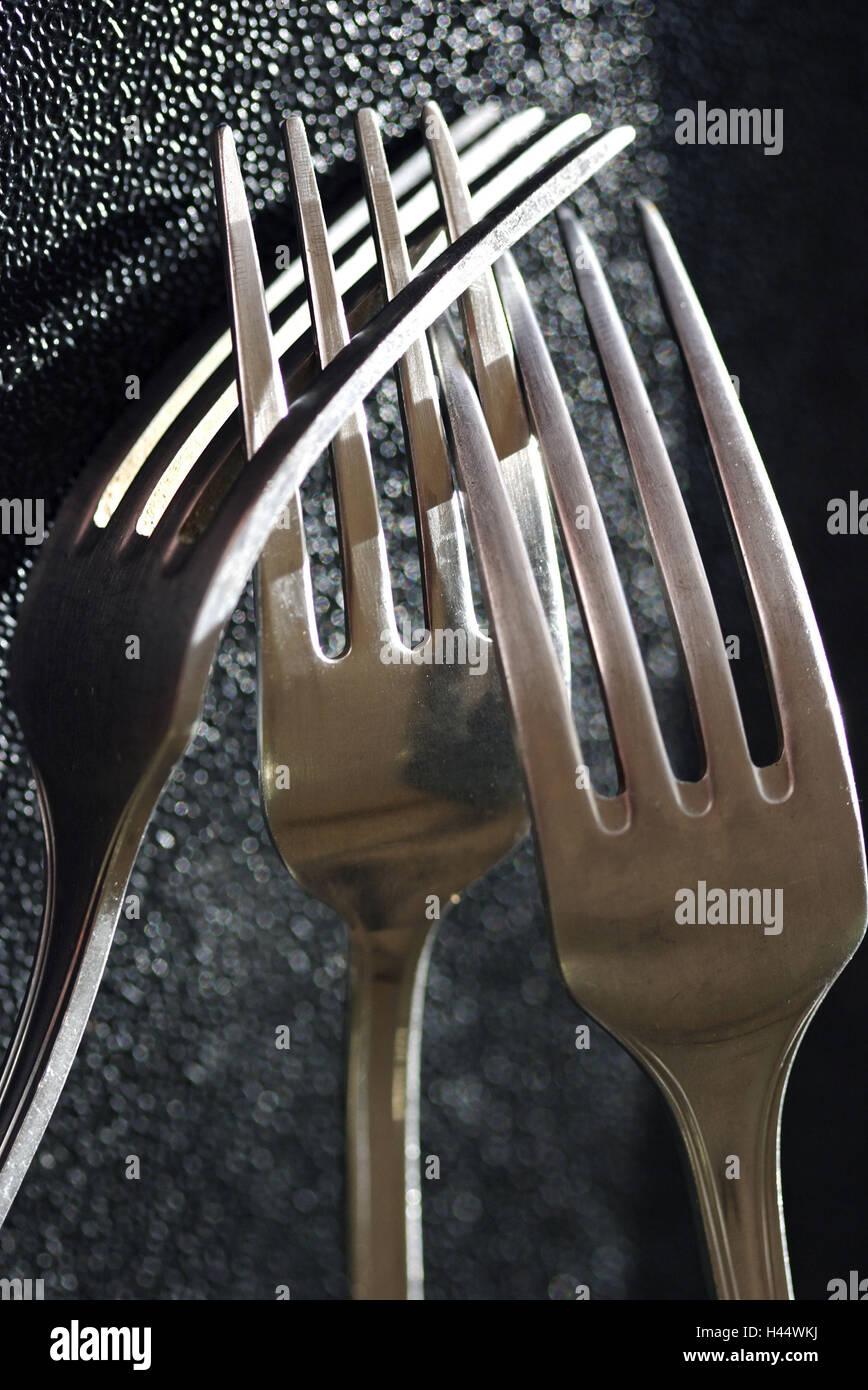Forks, close up, - Stock Image