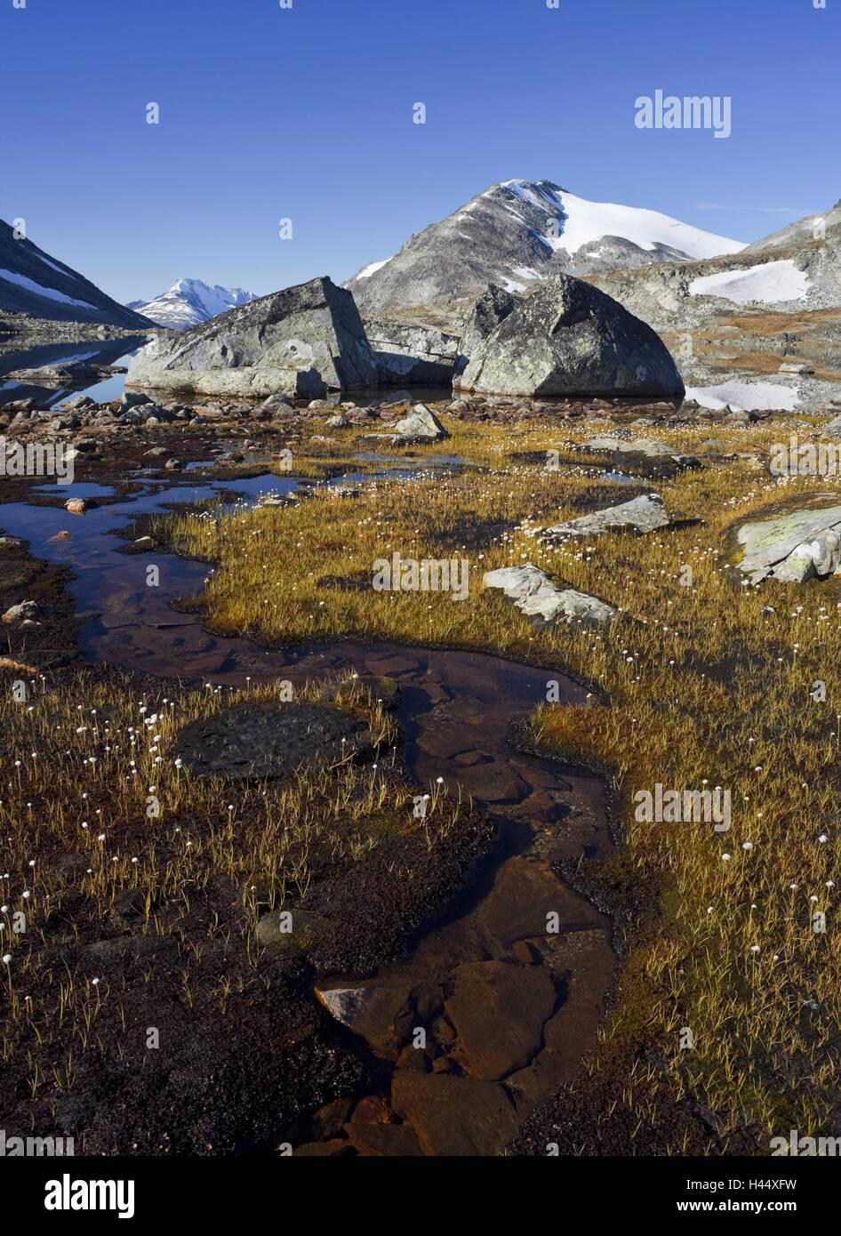 Norway, Jotunheimen national park, Gravdalen, waters, - Stock Image