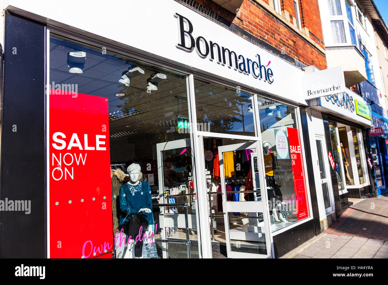 Bonmarche fashion chain store shop shops sign store storefront street UK England GB - Stock Image