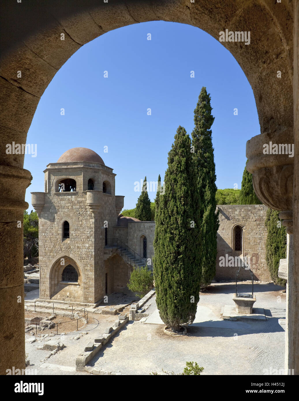 Europe, Southern, Europe, Greece, island Rhodes, Filerimos, former cloister, - Stock Image