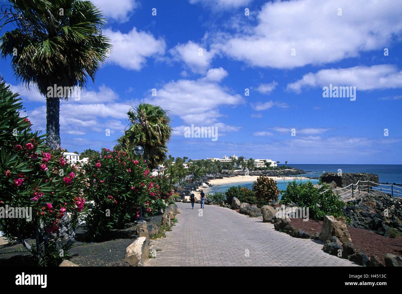 Spain, the Canaries, island Lanzarote, Playa Blanca, way, - Stock Image