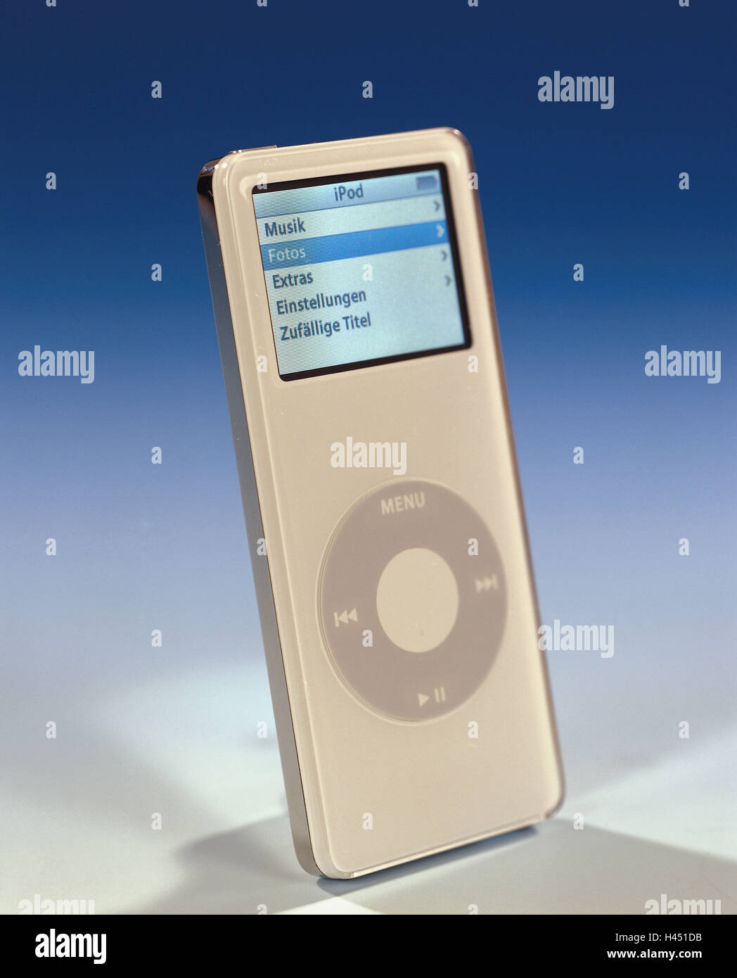 iPod nano, knows, Display, menu-point, photos, no property release, conversation-electronics, technology, digitally, - Stock Image