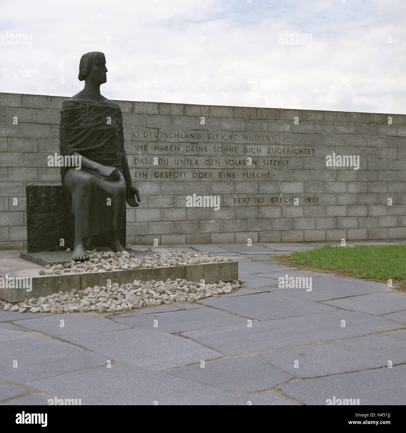 Austria, Mauthausen, concentration camp memorial, sculpture, GDR monument, sculpture, woman, Upper Austria, memorial, - Stock Image