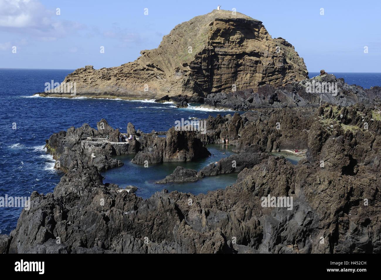 Portugal, island Madeira, postage Moniz, bile coast, - Stock Image