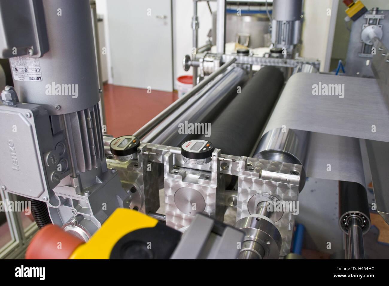 Chemicals companies, machine, Nanofolie, Germany, North Rhine-Westphalia, Marl, Evonik, company, nanotechnology, - Stock Image