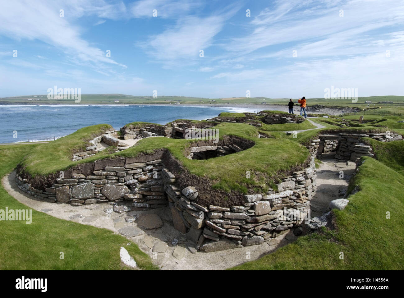 Great Britain, Scotland, Orkneyinseln, island Main country, Skara Brae, settlement, Stone Age, tourists, Orkney, - Stock Image