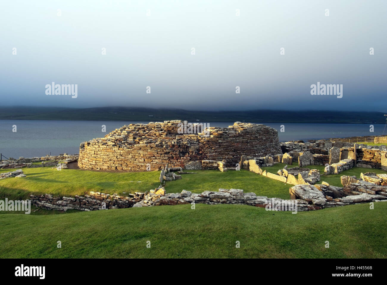 Great Britain, Scotland, Orkneyinseln, island Main country, Broch Gurness, stone circle, ruin, prehistorically, - Stock Image