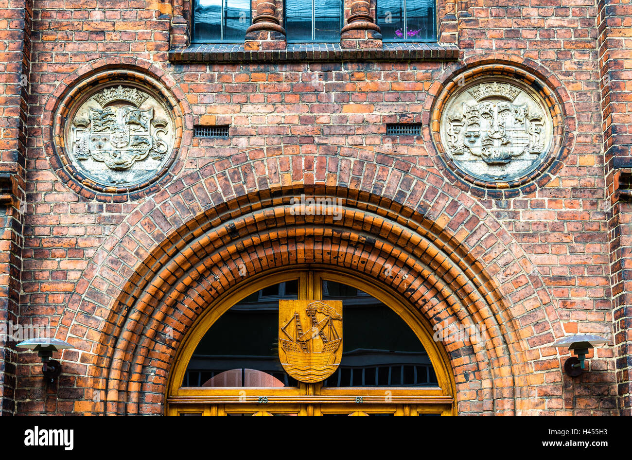 The city hall of Elsinore or Helsingor in Denmark - Stock Image