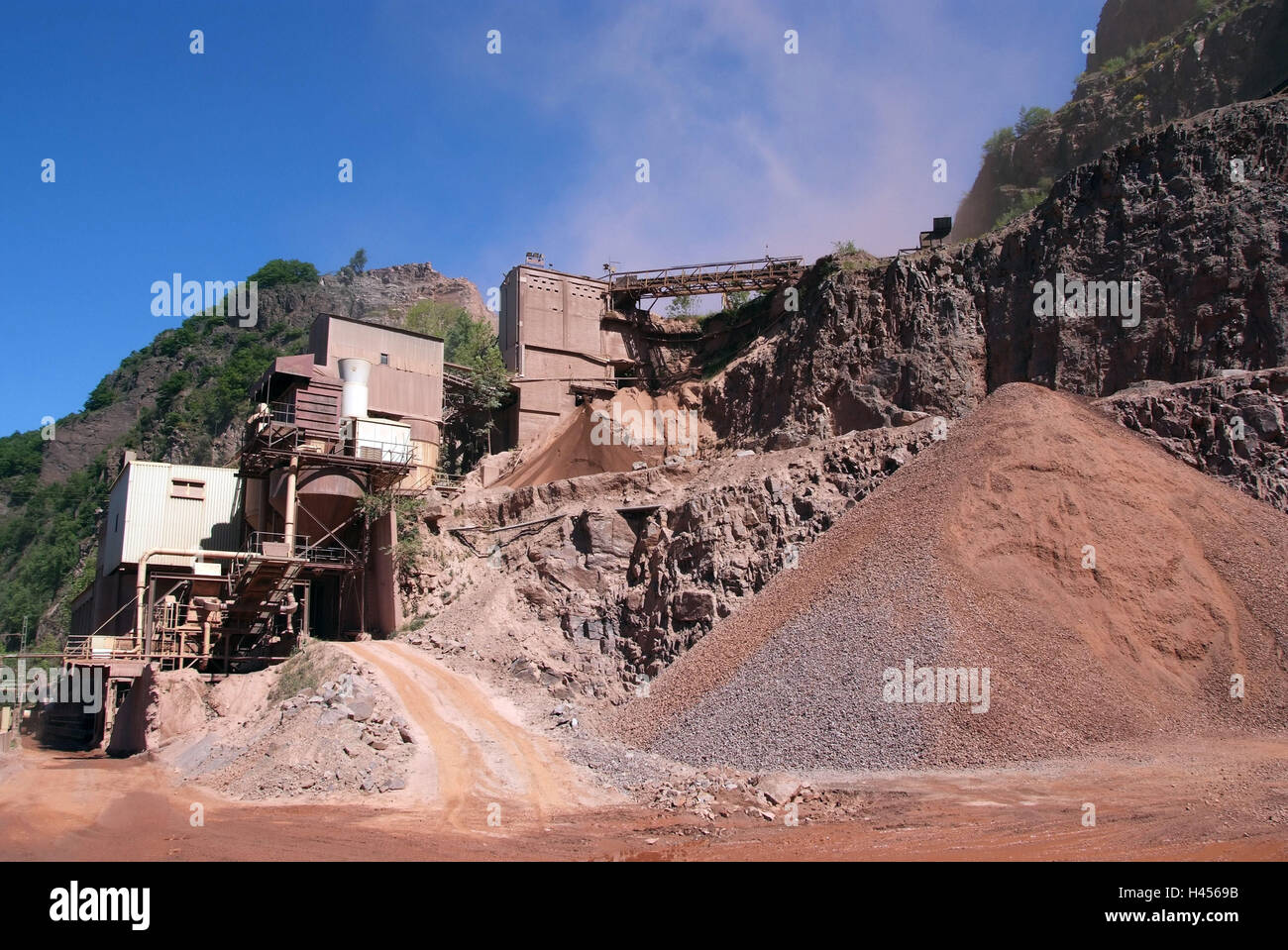 Quarry, crusher, - Stock Image