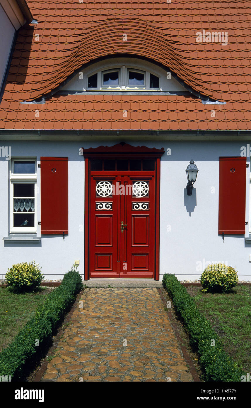 North Germany, spring, captain's house, door, - Stock Image