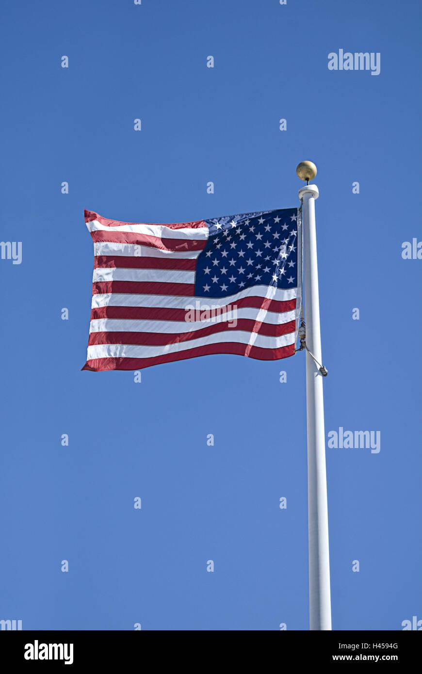 The USA, national flag, blow, - Stock Image