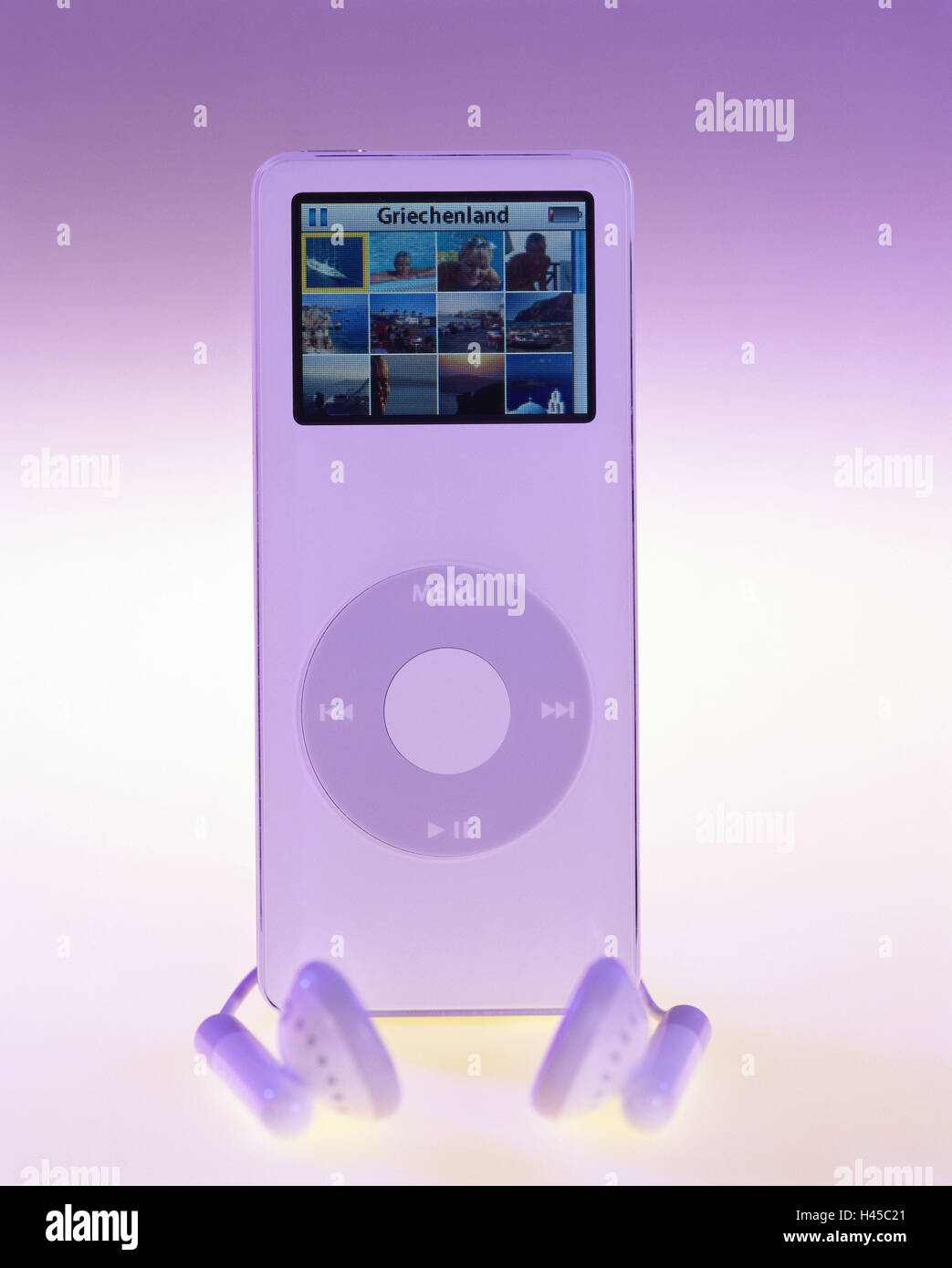 iPod nano, knows, Display, photos, ear-listeners, no property release, conversation-electronics, technology, digitally, - Stock Image