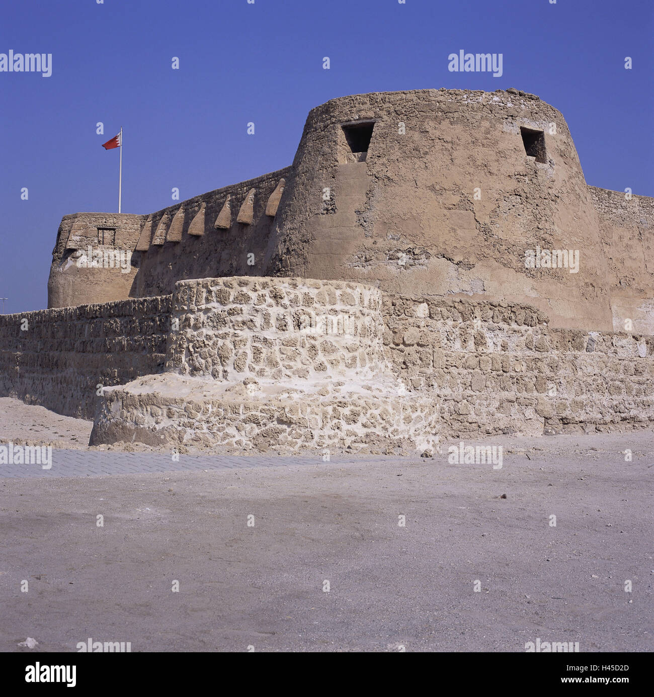 Bahrain, island Muharraq, fortress, Qala'at Arad, island state, sheikdom, destination, building, architecture, - Stock Image
