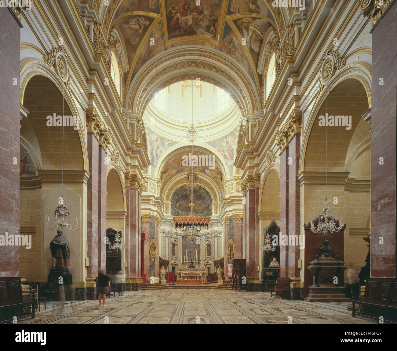 Malta, Mdina, St. Peter and Paul's cathedral, interior shot, island, Mediterranean island, destination, place - Stock Image