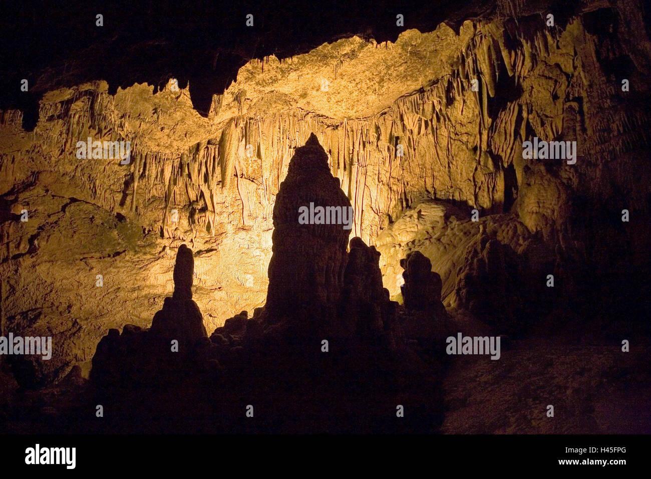 Turkey province Antalya limestone cave lighting pit drip stones stones rock pit stalagmite to stalactites place of interest attraction tourism ... & Turkey province Antalya limestone cave lighting pit drip stones ...