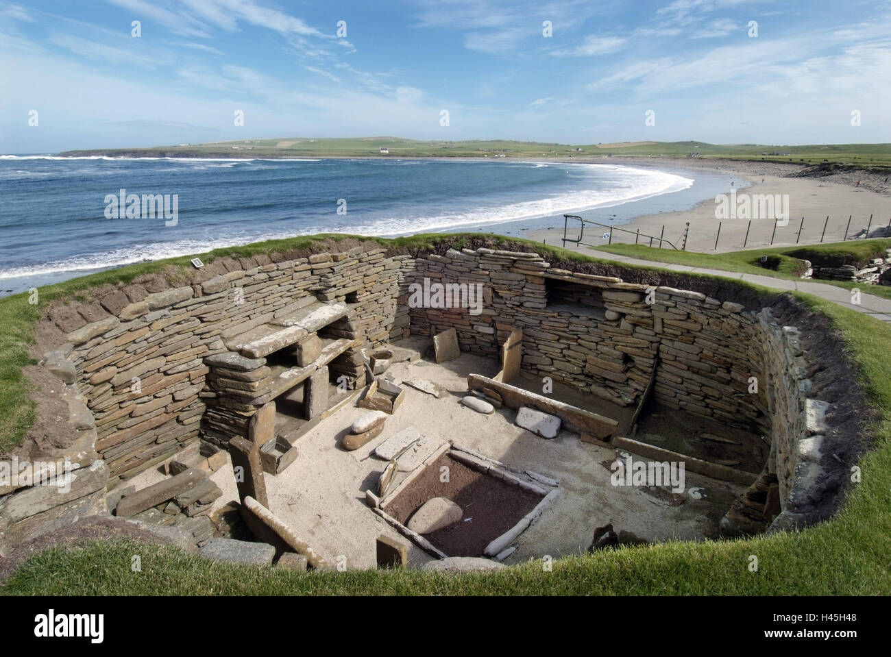 Great Britain, Scotland, Orkneyinseln, island Main country, Skara Brae, settlement, Stone Age, simulation, interior, - Stock Image