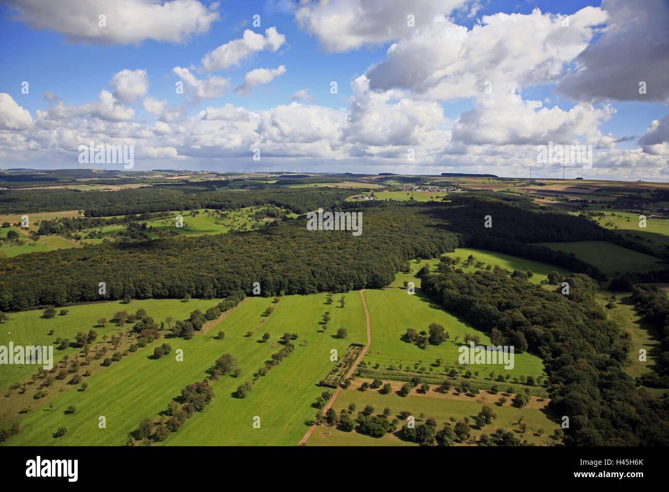 Germany, Saarland, Saargau, Perl, aerial shot, - Stock Image