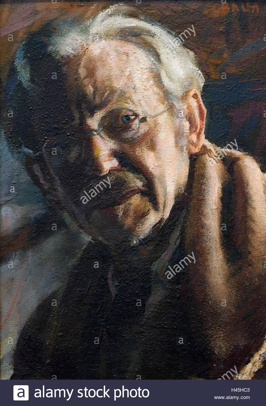 Giacomo Balla (1871-1958), Autodolore (1947). Self Portrait. - Stock Image