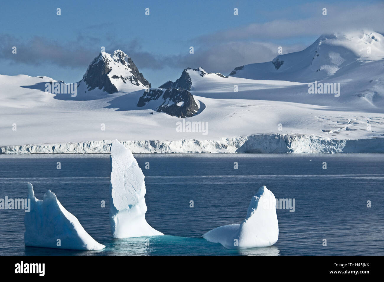 Antarctic, South Shetland islands, Livingston island, mountains, - Stock Image