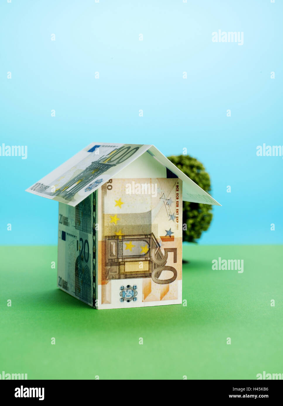 Banknotes House Form Icon Building Of A House Small House