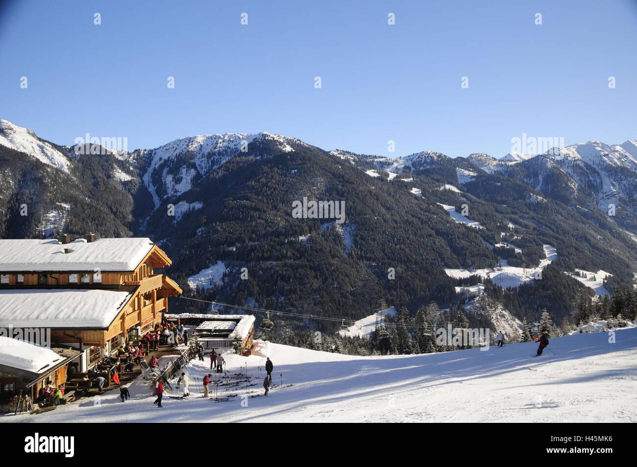 austria, salzburg country, skiing area flachauwinkel, flachau, ski