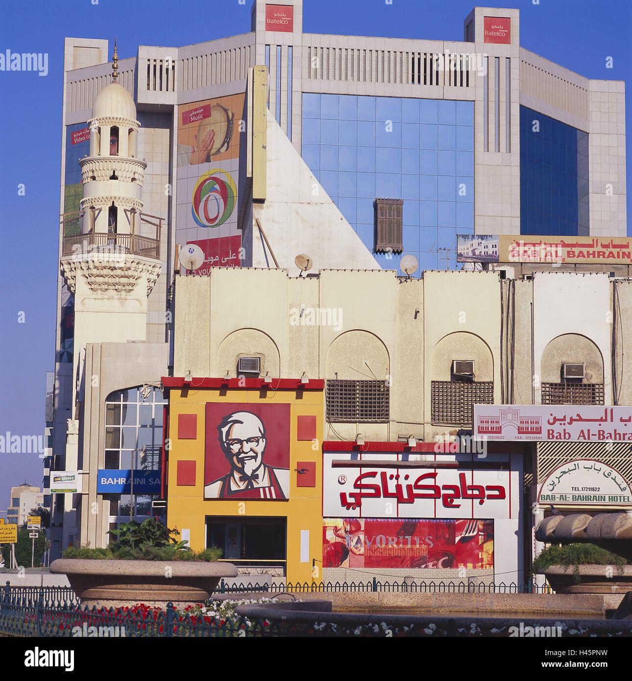 Bahrain, island Manamah, Manama, Batelco, business premises, Friday