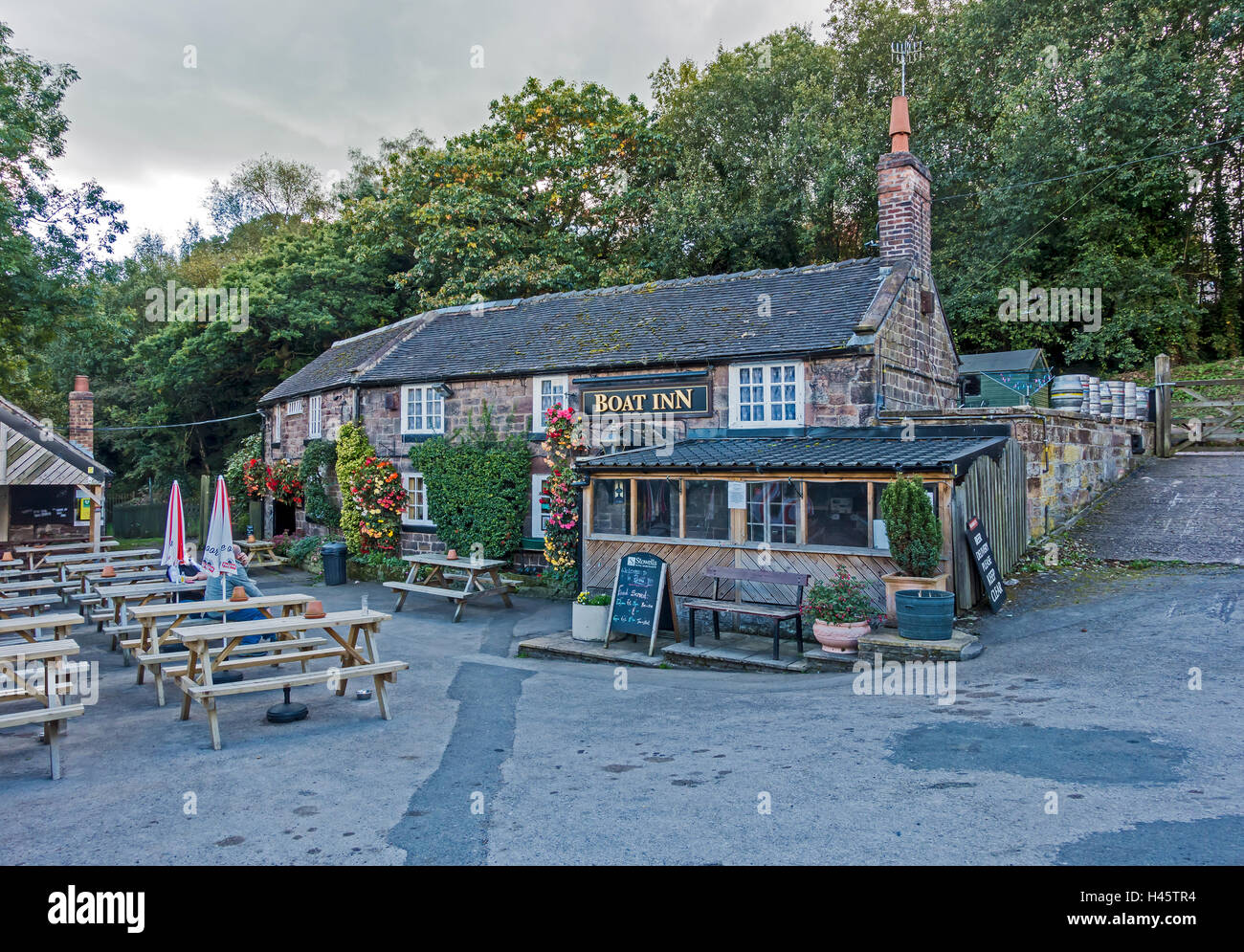 The Boat Inn in Cheddleton Staffordshire England UK - Stock Image