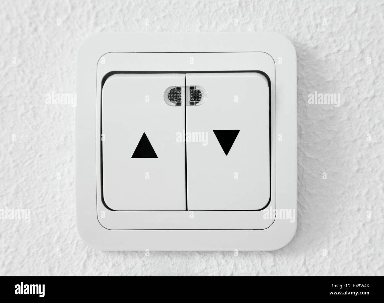 Shutter switch, on, from, toggle, switch, electrically, high, under it, buttons, Tastschalter, electricity, shutter, - Stock Image