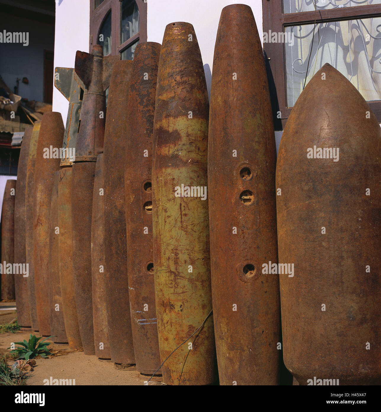 Laos, Xieng Khouang, Phonsavan, bombs, rusts, Asia, South-East Asia, place of interest, recollection, war, weapons, - Stock Image