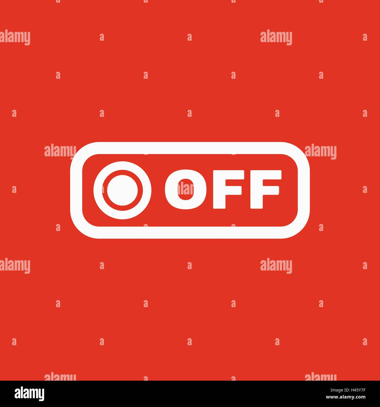 The off button icon. Off switch symbol. Flat Stock Vector Art ...