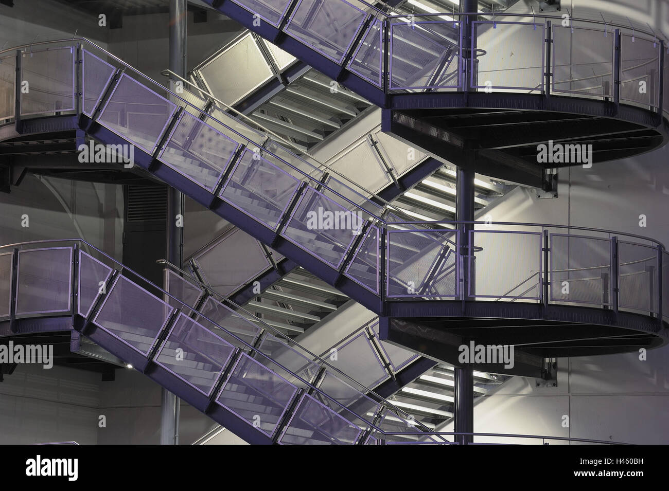 Outside Stairs, Steel Design Work, Stairs, Building Facade,   Stock Image