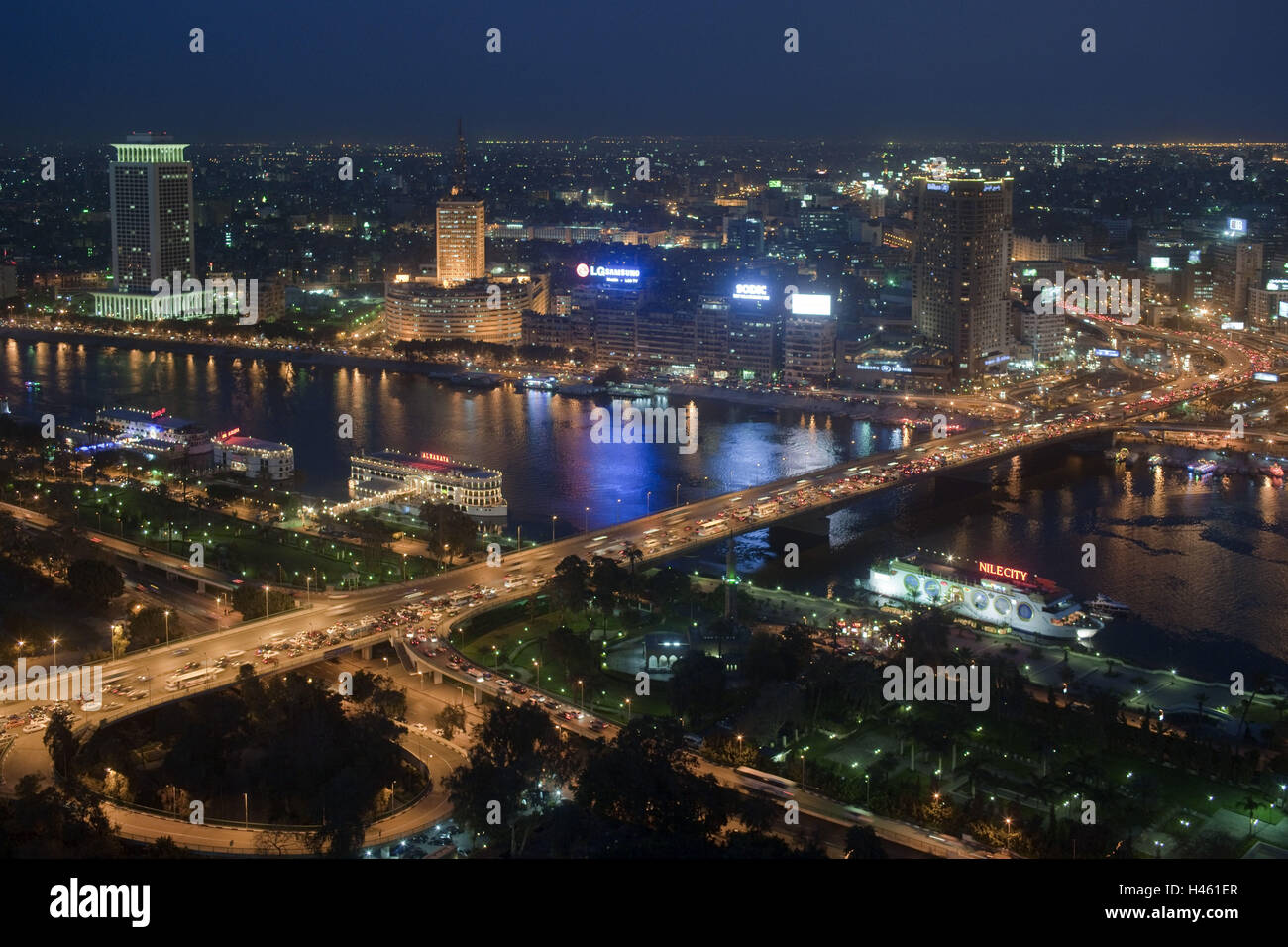 Egypt Cairo 6th October Bridge View From The Tower On Building State Television