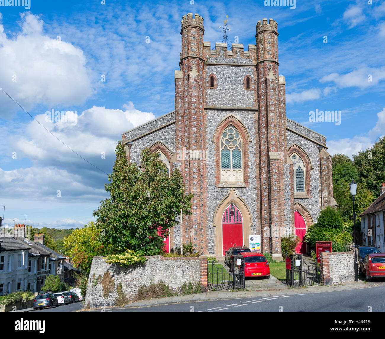 Anglican Church of St John sub Castro in Lewes, East Sussex, England, UK. - Stock Image