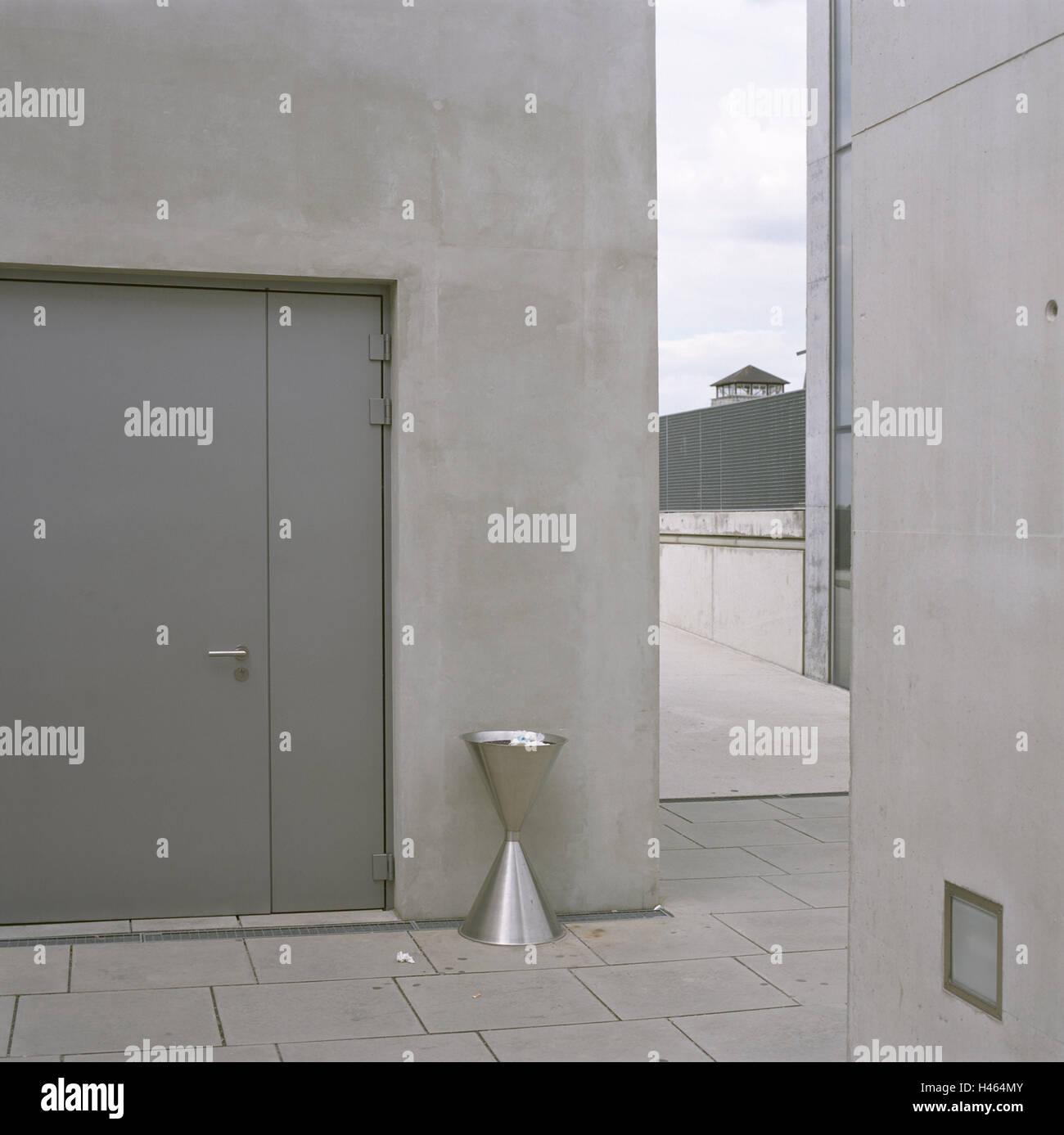 Austria, Mauthausen, concentration camp memorial, courtyard, deserted, Upper Austria, memorial place, concentration - Stock Image