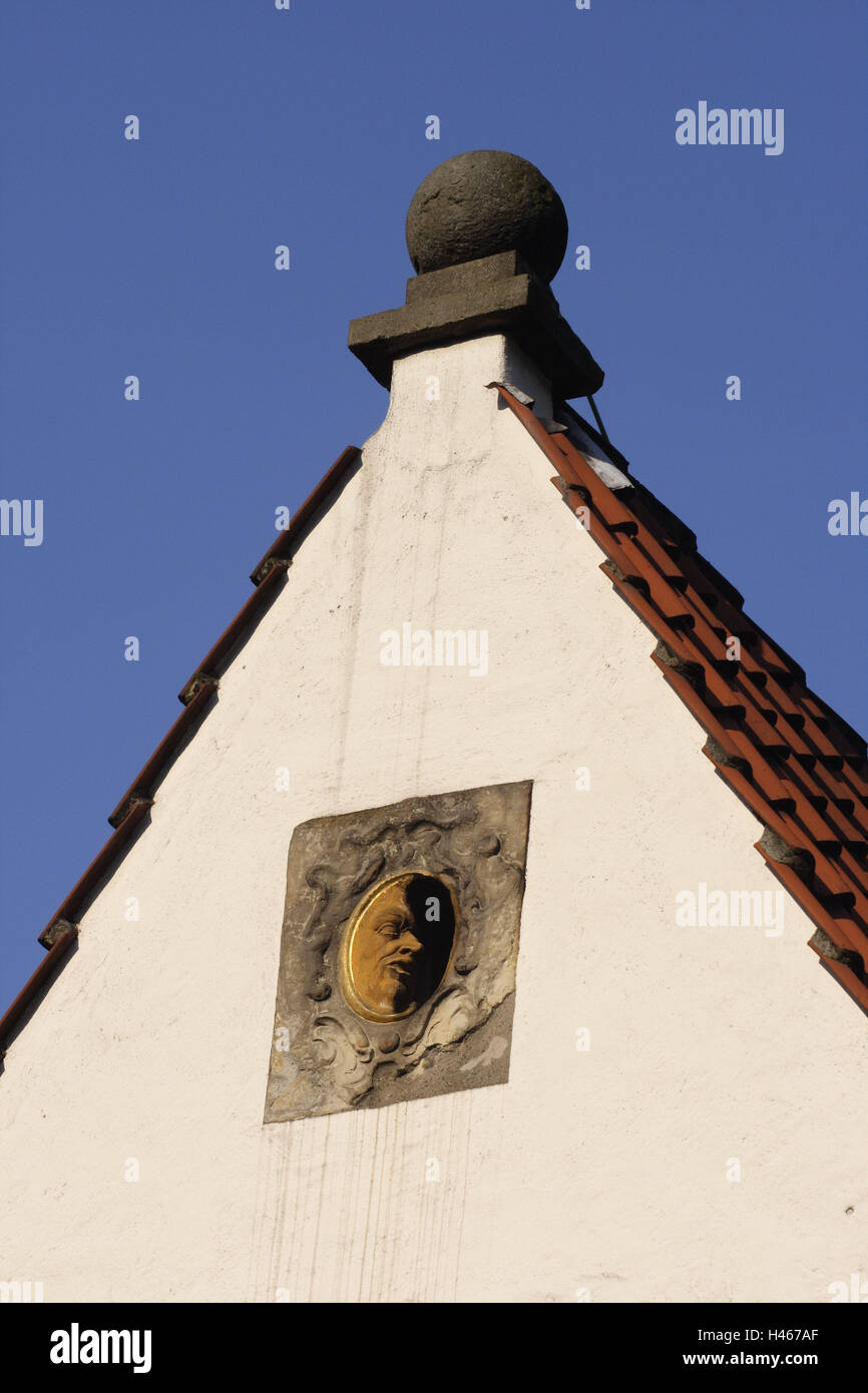 Germany, Bremen, Schnoorviertel, wedding house, gable, detail, North Germany, town, Hanseatic town, destination, - Stock Image
